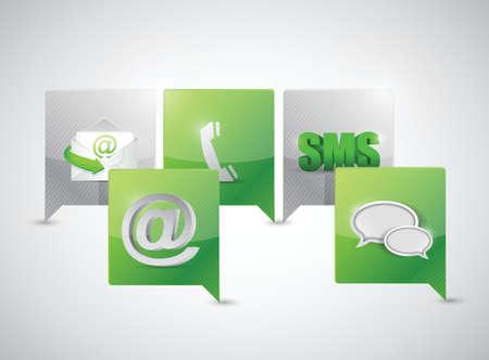message bubble communication concept illustration design over white Vector