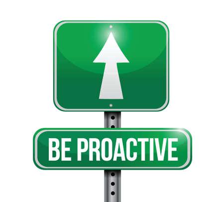 proactief verkeersbord illustratie ontwerp op een witte achtergrond