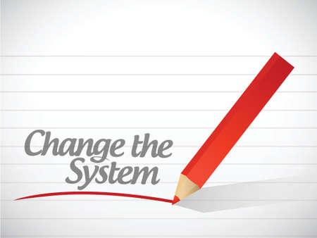 start fresh: change the system written message illustration design over white