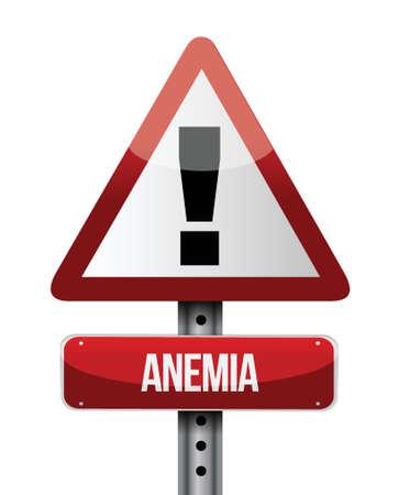 anemia road sign illustration design over white Vector