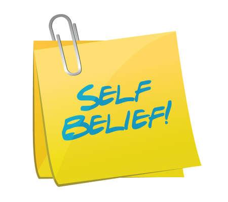 believing: self belief post illustration design over a white background