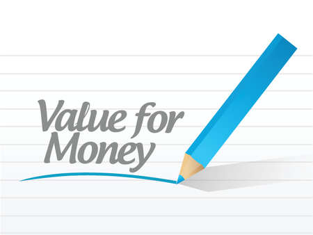 value for money written message illustration design over white Çizim