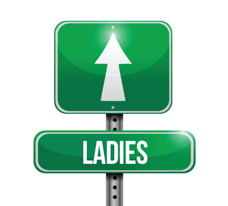 ladies road sign illustration design over a white background Illustration