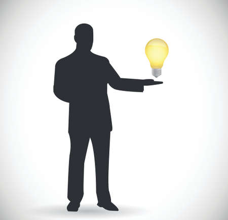 people and idea light bulb illustration design over a white background Vector
