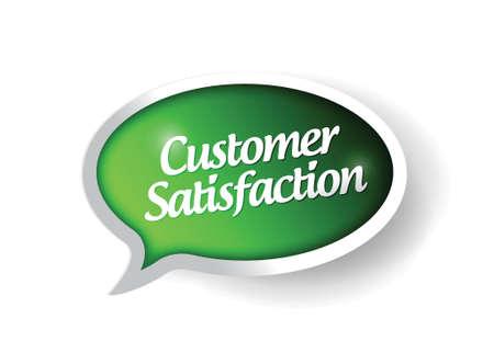 customer satisfaction message on a speech bubble. illustration design Stock Vector - 23057741