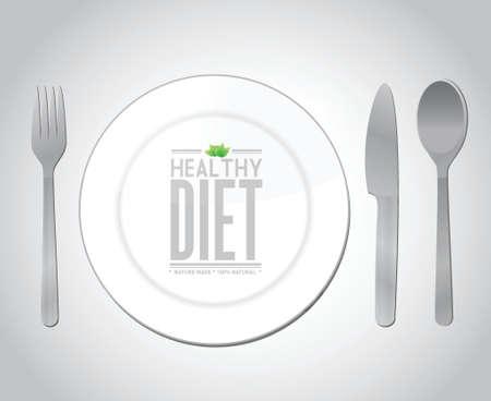 jedzenie zdrowe odżywianie koncepcji projektowania ilustracji na szaro