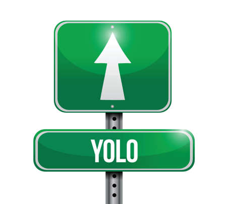 yolo road sign illustration design over a white background Illustration
