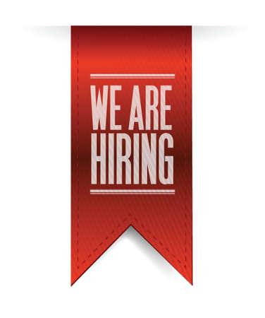 applicant: we are hiring textured banner illustration design over white Illustration
