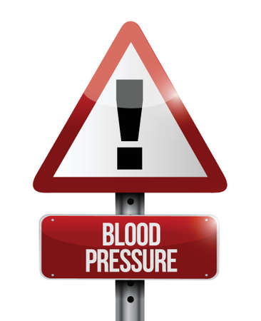 blood pressure monitor: blood pressure road sign illustration design over a white background