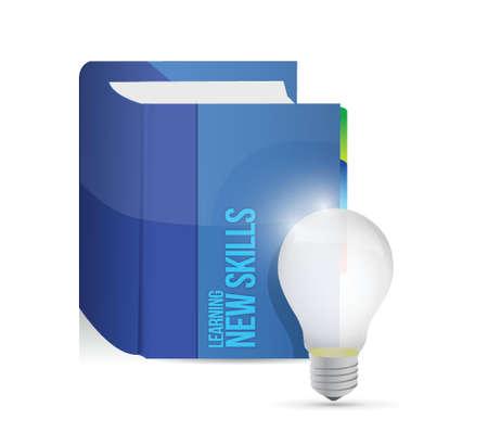 learning new skills book illustration design over white Stock Vector - 23057868