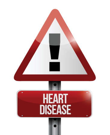 heart attack: heart disease road sign illustration design over a white background