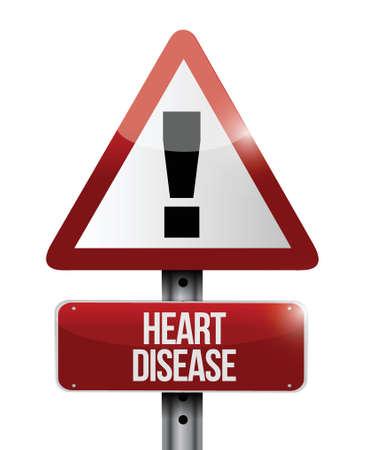 heart disease: heart disease road sign illustration design over a white background