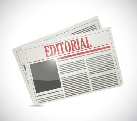 commentary: editorial del peri�dico Ilustraci�n de dise�o sobre un fondo blanco
