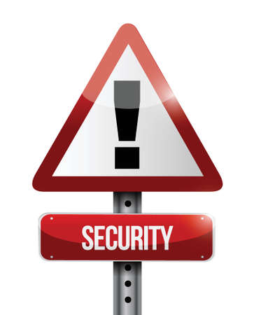 cautious: security warning road sign illustration design over a white background