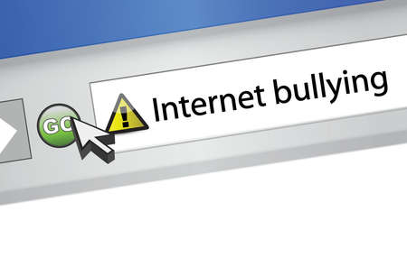internet bullying concept. browser illustration design graphic