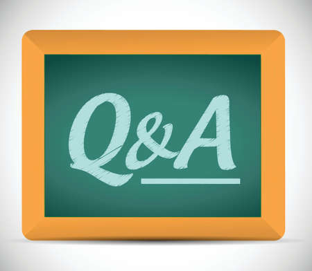 questions and answers illustration design over a chalkboard 向量圖像