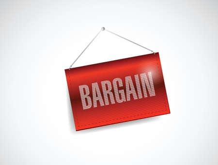price cut: affare appeso segno design illustrazione su uno sfondo bianco Vettoriali