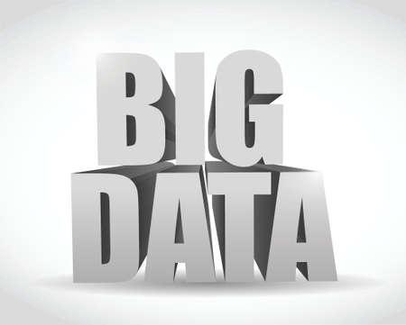 texto 3d big mensaje de ilustraci�n, dise�o, datos sobre un fondo blanco