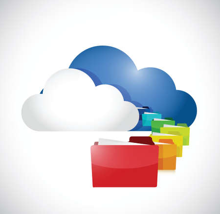storage: cloud computing storage information concept. illustration design