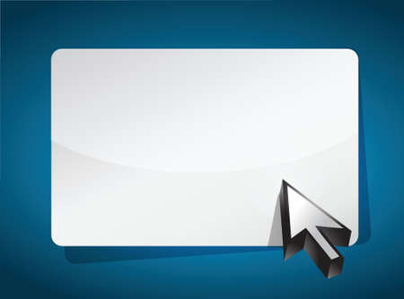 cursor pointing to a blank board over a blue background Vector