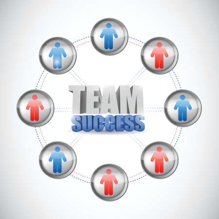 team success diagram concept illustration design over a white background Vector