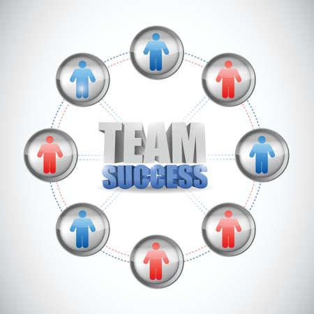 team success: team success diagram concept illustration design over a white background Illustration