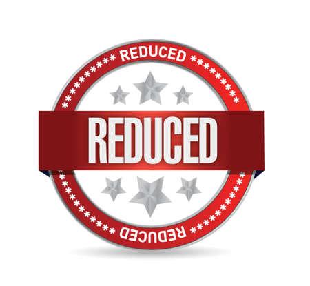 reduced seal illustration design over a white background Ilustração