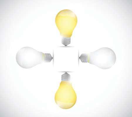 storage device: light bulb off and on. illustration design over a white background