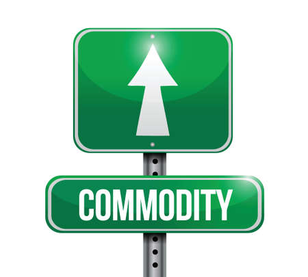commodity road sign illustration design over a white background