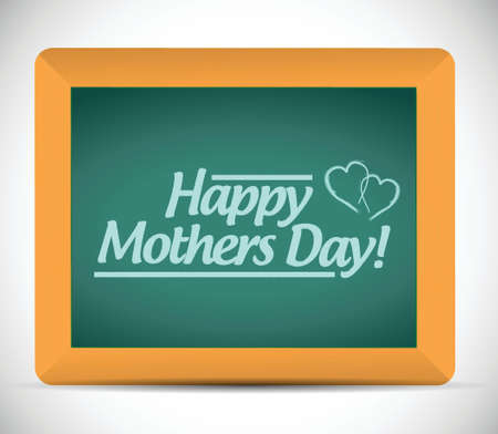 happy mothers day message on a blackboard. illustration design Illustration