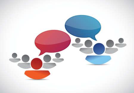 briefing: teams communication illustration design over a white background Illustration