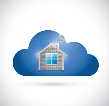 multimedia icons: home and cloud illustration design over a white background Illustration