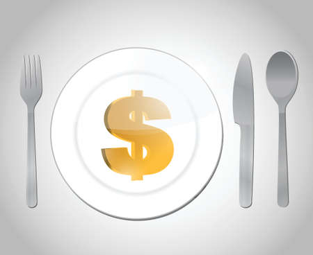 expensive diner illustration design over a white background Vector