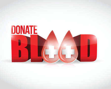 donate blood illustration design over a white background Stock Vector - 23718900