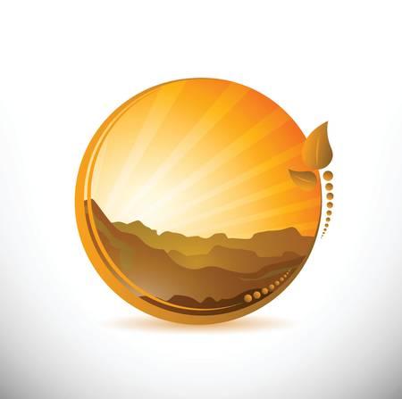 barren: desert landscape illustration design over a white background
