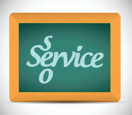 seo service message written on a chalkboard illustration design Vector