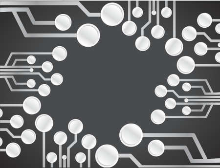 electronic background: electronic circuit illustration design graphic background over black Illustration