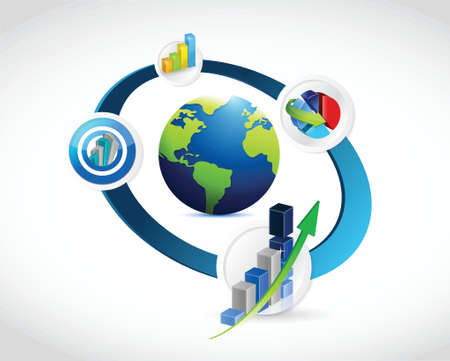 international business concept cycle over a white background Illustration
