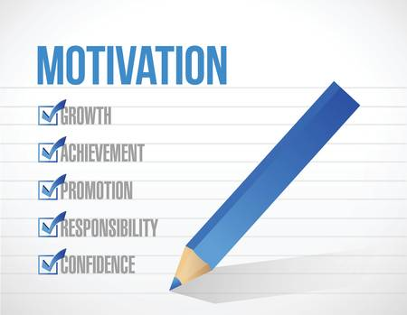 personal growth: motivation check list illustration design over a white paper background