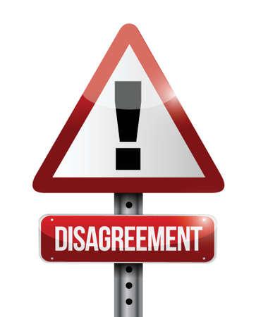 disagreement warning road sign illustration design over white Stock Vector - 23964099