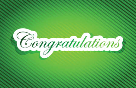 and acclaim: congratulations sign card illustration design graphic over a green background