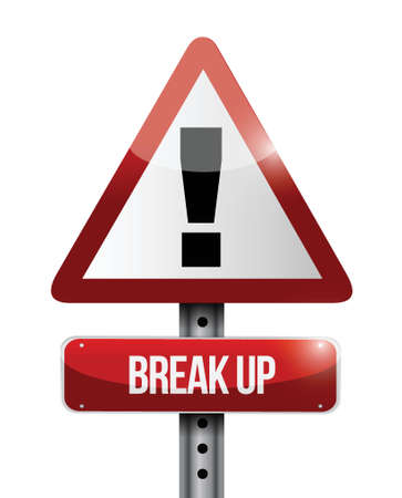 break up warning road sign illustration design over a white background Stock Vector - 23964200