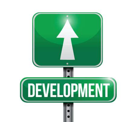 traffic violation: development road sign illustration design over a white background