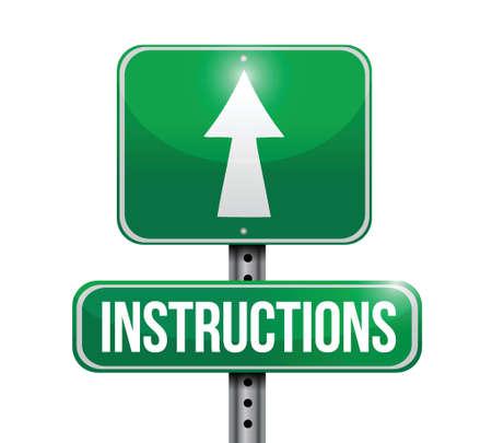 白色の背景上指示道路標識イラスト デザイン  イラスト・ベクター素材
