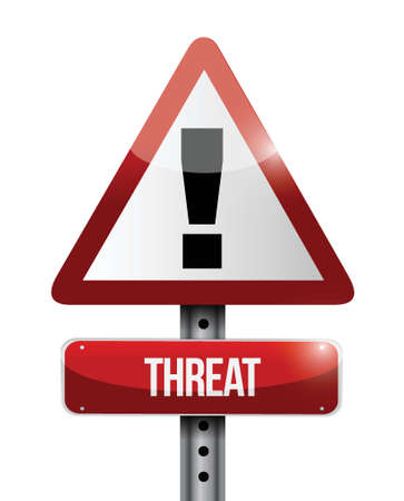 threat warning road sign illustration design over a white background Stock Vector - 23964243