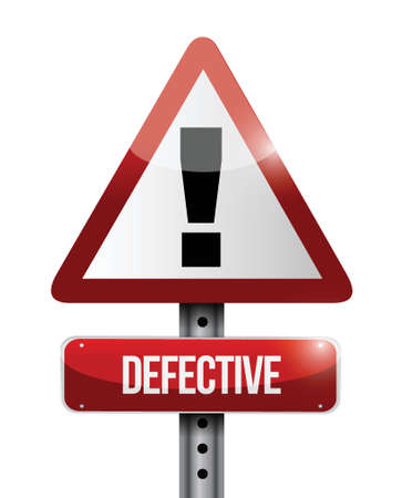 defective warning road sign illustration design over a white background Vector