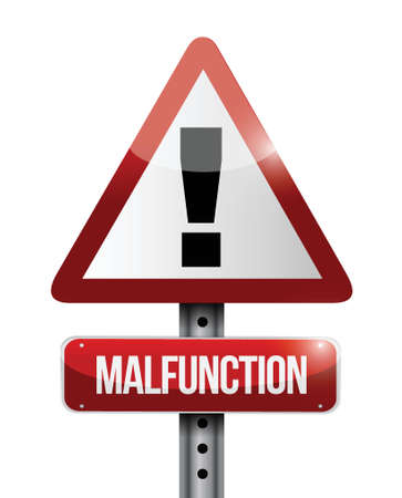 malfunction: malfunction warning road sign illustration design over a white background