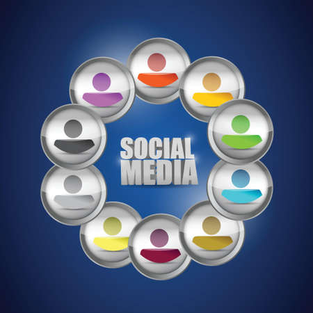 diversity social media concept illustration. people illustration design Vectores