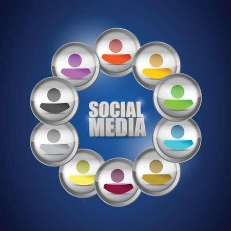 diversity social media concept illustration. people illustration design Illustration