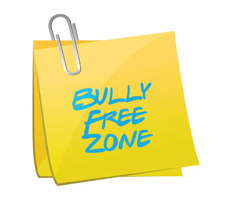 bully: mensaje de zona libre de mat�n dise�o ilustraci�n sobre un fondo blanco
